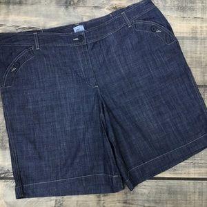 Just My Size Chambray Denim Shorts Plus Size 20W